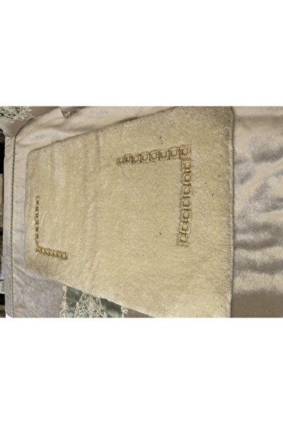 Home Sweet Home Tekli Gold Taşlı Oda Banyo Paspası