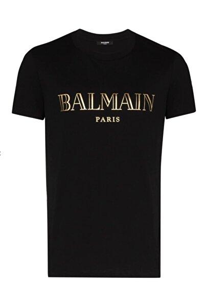 BALMAIN Gold Print Regular Fit T-shirt