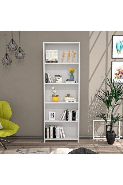 Just Home Eco 5 Raflı Kitaplık - Beyaz