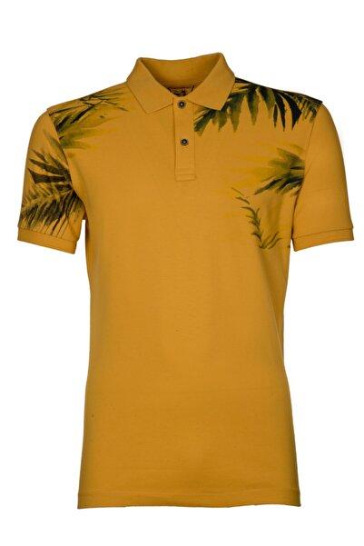 Arma Y0tyo2691 Erkek Baskılı Polo Yaka Slim Fit T-shirt Kısa Kollu Yazlık Tişört