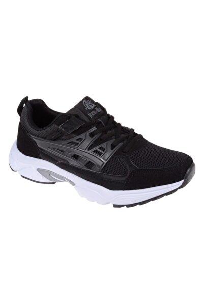 Friendly Erkek Siyah Beyaz Bağcıklı Spor Ayakkabı Sneakers