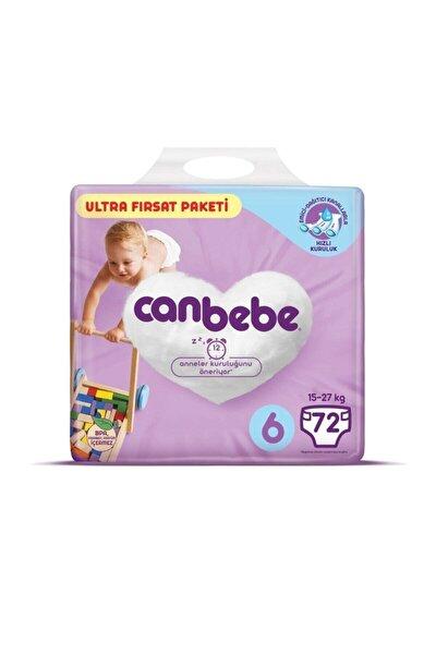 Canbebe Bebek Bezi 6 Beden 15-27 kg 72'li