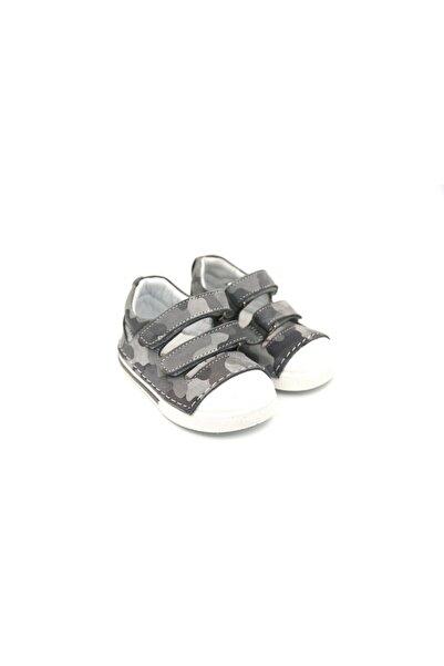 ELMA ŞEKERİ Unisex Bebek Gri İlk Adım Ayakkabısı