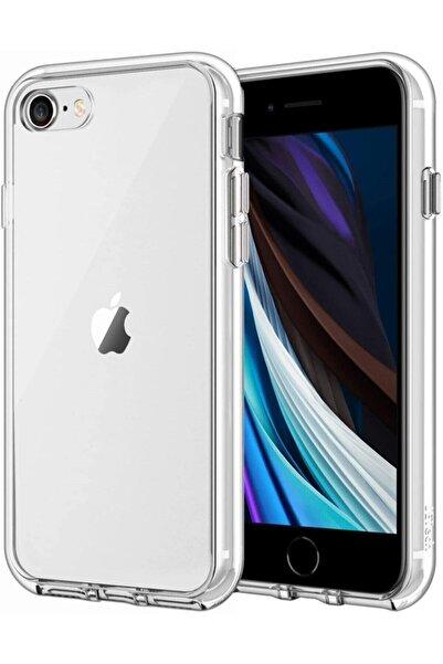 Teknoçeri Iphone Se 2020 Şeffaf Silikon Kapak Kılıf Şeffaf