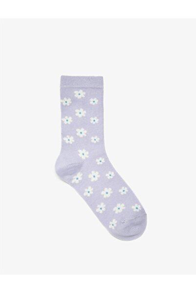 Koton Kadın Mor Desenli Çorap