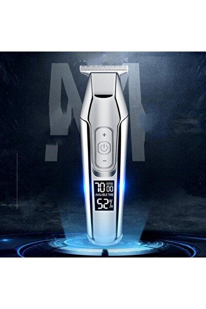 Avcill Angel Model Hayalet Ekran Saç Sakal Tıraş Makinesi Ayarlanabilir Hız Dijital Şarj Göstergeli