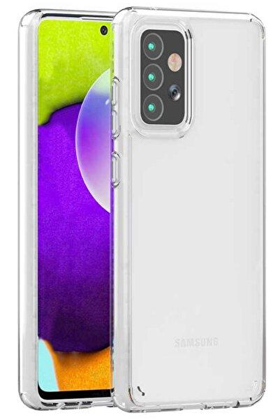 Samsung Galaxy A72 Kılıf Sert Şeffaf Köşe Korumalı Hibrit Kapak