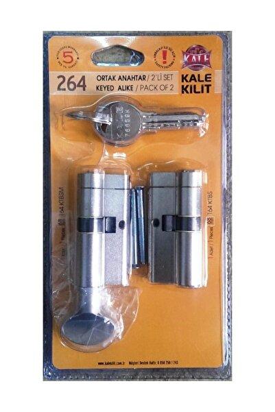 Kale Kilit Kale 264 Tuzaklı Kilit Sistem Barel Ortak Anahtar Ikiz Set