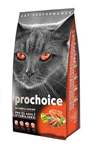 3 Somonlu Ve Karidesli Düşük Tahıllı Kısırlaştırılmış Kedi Maması 15 kg