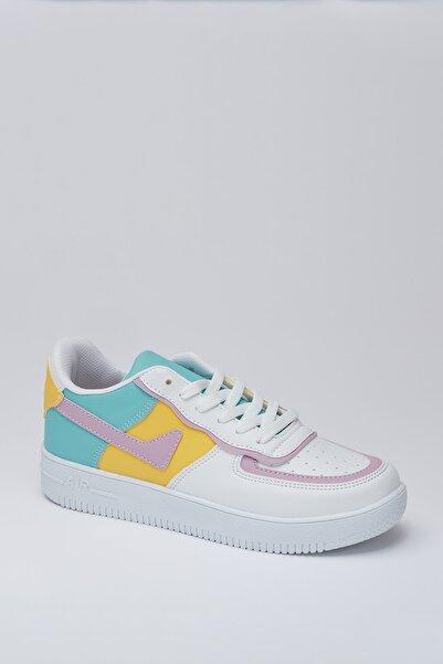 MUGGO Unisex Beyaz Sneaker Ayakkabı
