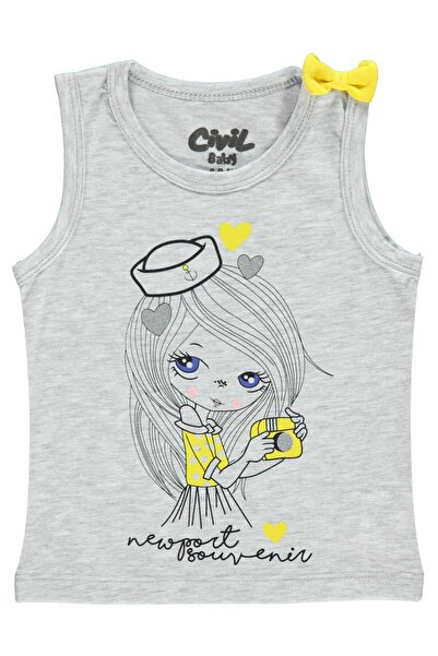 Civil Baby Kız Bebek Gri Tişört