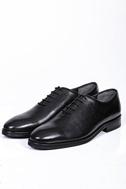 Mcr Erkek Siyah Klasik Deri Ayakkabı