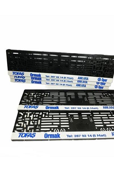 DMR Opar Yazılı Siyah Dikdörtgen Plaka Plakalık Çerçeve 1 Adet