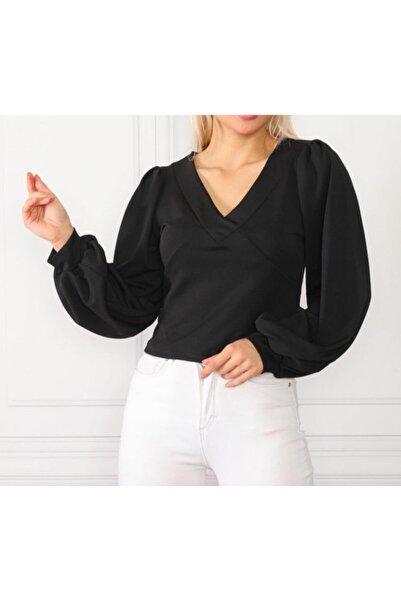 Miss Selens Kadın Siyah Bluz