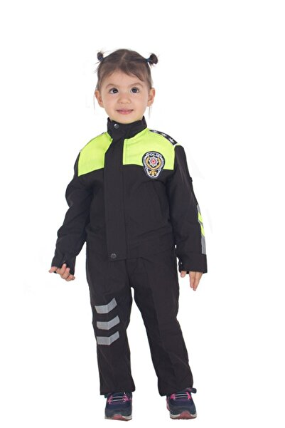 Sevimli Kids Çocuk Şahin Motorize Trafik Polis Kostümü Kıyafeti