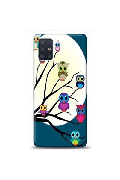 EXCLUSIVE Samsung Samsung A51 Daldaki Baykuslar Desenli Telefon Kılıfı