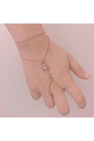 The Shirret Accessories Rose Taşlı Anahtar Şahmeran