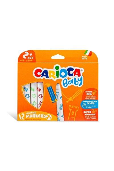 CARIOCA Süper Baby Yıkanabilir Keçeli Boya Kalemi 12'li