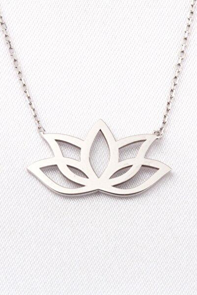 Anka Taki Lotus Çiçeği Beyaz Anneler Günü Hediyesi Kolye Doğum Hediyesi Anne0009