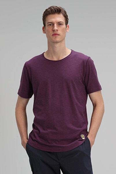 Lufian Junya Modern Grafik T- Shirt Mürdüm