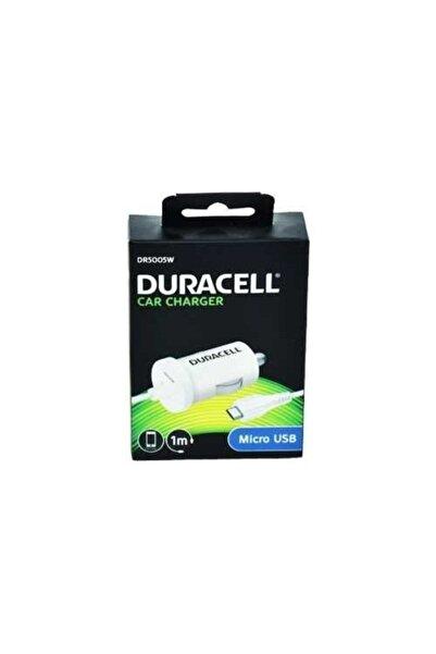 Duracell 12v Micro Usb Telefon Araç Şarjı Beyaz Dr5005w
