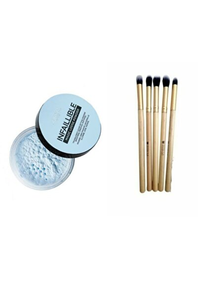 L'Oreal Paris Infaillible Magic Loose Powder - Transparan Toz Pudra Ve 5 Li Makyaj Fırçası