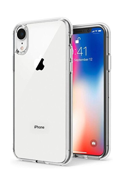 Syrox Iphone Xr Kamera Korumalı Tıpalı Şeffaf Silikon Kılıf