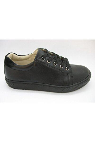 Toddler Unisex Siyah Deri Ortopedik Destekli Ayakkabı 31-35 02404