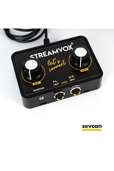 STREAM VOX Streamvox Stereo Input Canlı Yayın Sinyal Kablosu