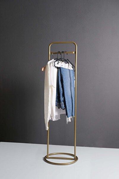 Fec Reklam Metal Ayaklı Konfeksiyon Askılığı Gold Elbise Askılık Oba 30 cm