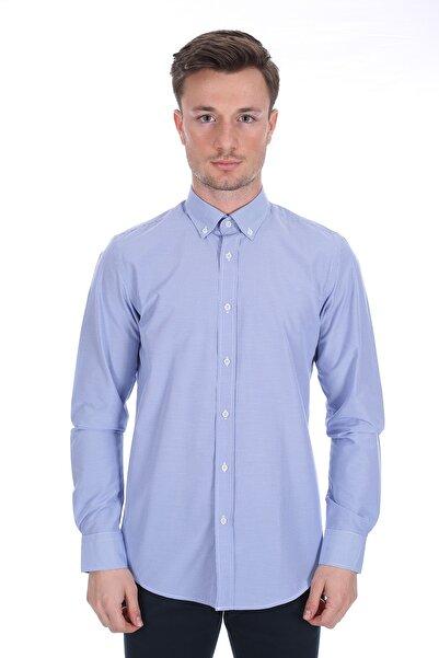 Diandor Erkek Mavi Uzun Kollu Gömlek 1912060