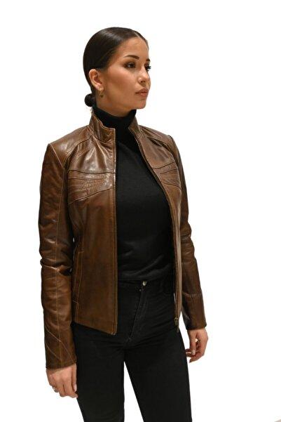 Derihouse Kadın Kahve Ceket