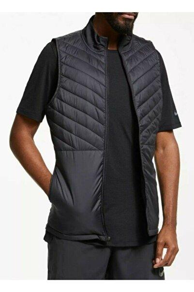 Nike Erkek Aerolayer Termal Koşu Yeleği Tam Boy Fermuarlı Siyah Cj5478-010