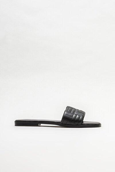 Elle Shoes Kadın Siyah Düz Terlik