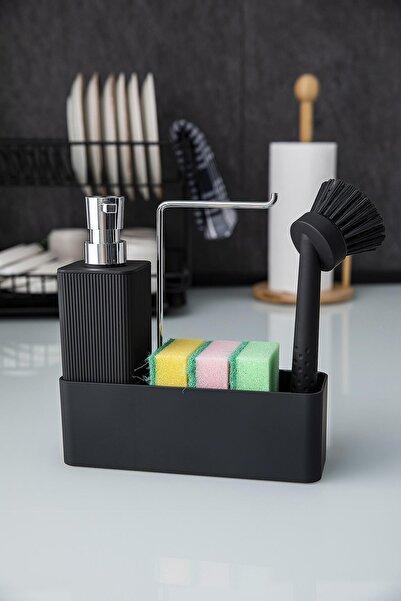 Doreline Lotus Akrilik Sıvı Sabunluk Fırçalı, Havluluklu, Dekoratif Mutfak Sıvı Sabunluk