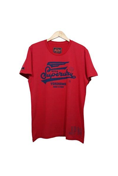 SUPERDRY Unisex Kırmızı Baskılı T-shirt