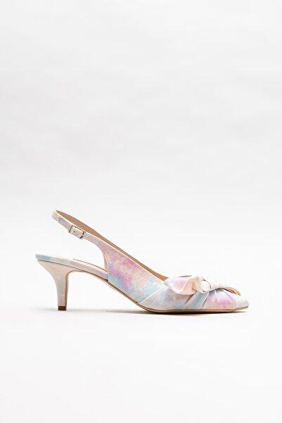 Elle Shoes Kadın Pudra Topuklu Ayakkabı