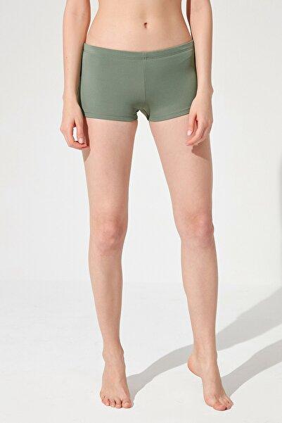 Penti Kadın Yeşil Army Basic Boxer Bikini Altı