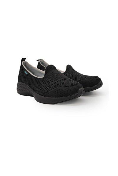 King Kadın  Siyah Krakers Aır Günlük Ayakkabı