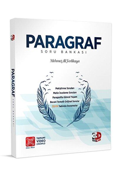 3D Yayınları 2020-2021 Baskı Yks Paragraf (tyt-ayt) Soru Bankası (10 Deneme Dahil)