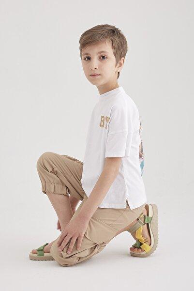 hoQuspoQus Erkek Çocuk Ikili Takım T-shirt - Kargo Pantolon (toprak)