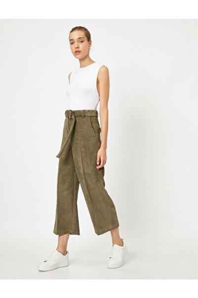 Koton Kadın Yeşil Pantolon 0KAK42846UW