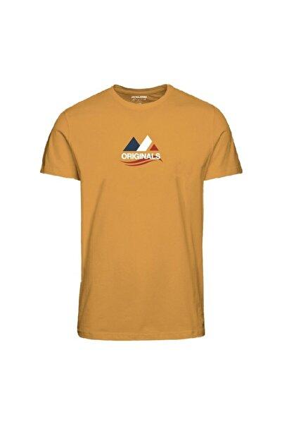 Jack & Jones Erkek Sarı Kısa Kol Tişört
