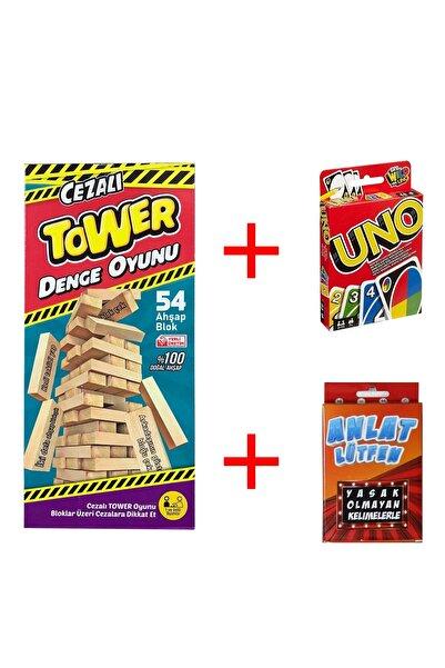 RitimTrendy Cezalı Denge Oyunuı Uno Lütfen Anlat Kutu Oyun Seti