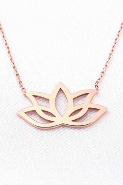 Anka Taki Lotus Çiçeği Roz (pembe) Anneler Günü Hediyesi Kolye Doğum Hediyesi Anne0011
