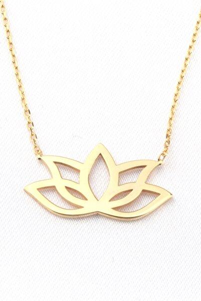 Anka Taki Lotus Çiçeği Sarı Anneler Günü Hediyesi Kolye Doğum Hediyesi Kolye Anne00010