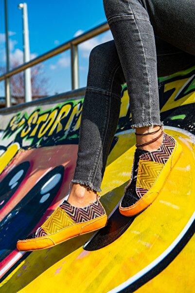 Güneşkızı Girl On Fire Sneaker / Tasarım Baskılı Vegan / Guki35 Sneakers Kadin Ayakkabi