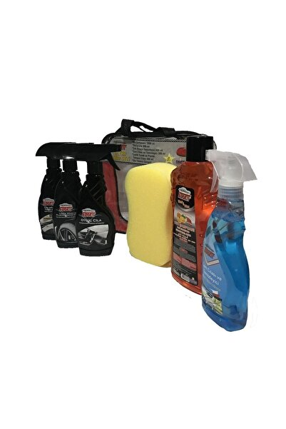 Autokit Araç Bakım Seti Lastik Parlatıcı Oto Iç Cila Cam Cilası Oto Şampuanı Süngeri Genel Temizleyici