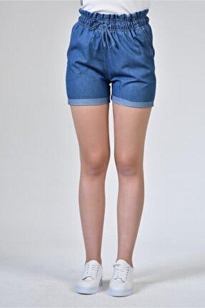 Rodi Ds21yb145316 Koyu Mavi Kadın Beli Lastikli Denim Şort