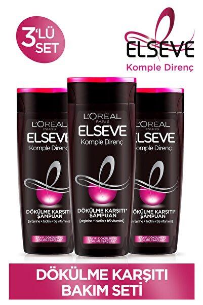 ELSEVE Komple Direnç Dökülme Karşıtı Şampuan 450 ml 3'lü Set